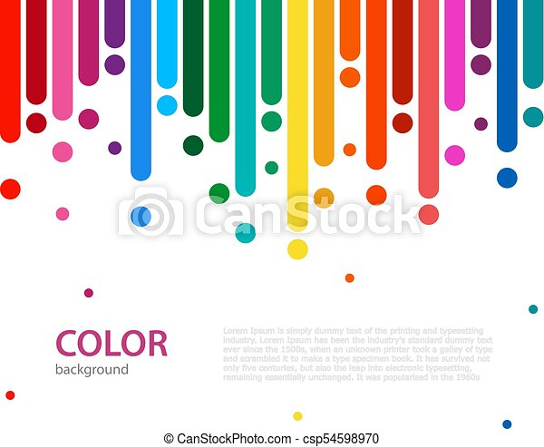 Abstract Colorful Rainbow Rain Color Lines With Bright Dots