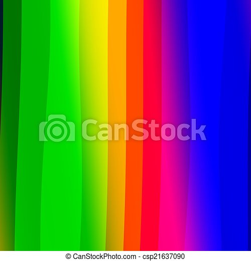 Abstract Colorful Rainbow Stripes Background - csp21637090