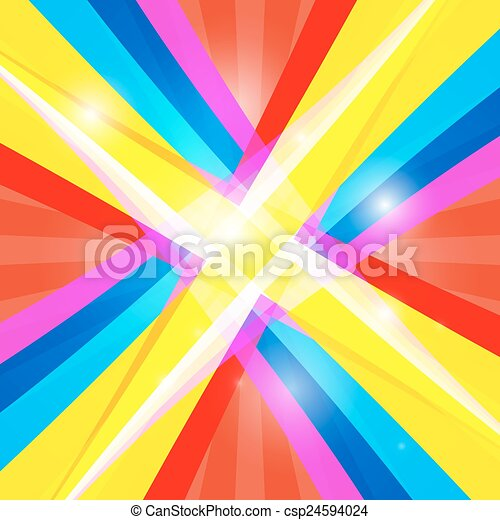 Abstract Colorful Retro Shiny Colorful Background - csp24594024