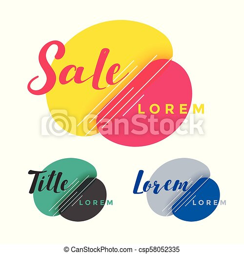 abstract colorful sale banner design - csp58052335