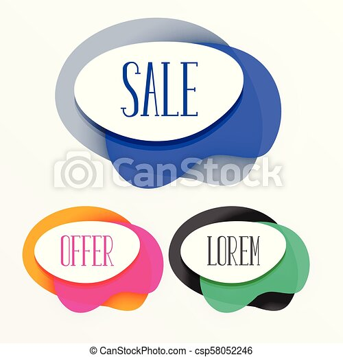 abstract colorful sale tags banner - csp58052246