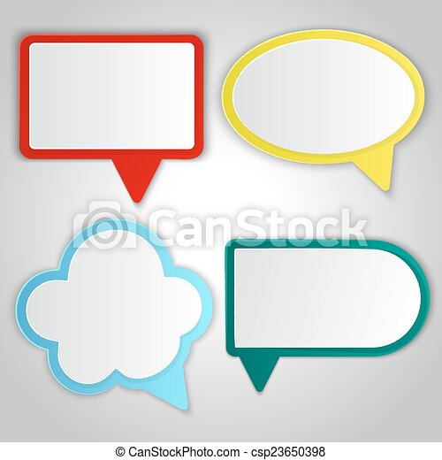 Abstract colorful speech balloons banners - csp23650398