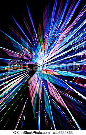 Abstract Colorful Spinning Ferris Wheel 3 - csp6681365