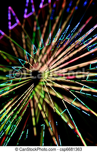Abstract Colorful Spinning Ferris Wheel 2 - csp6681363