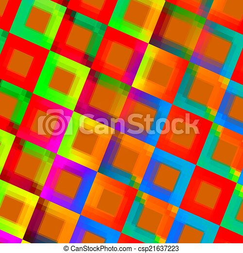 Abstract Colorful Squares Background - Creative - csp21637223