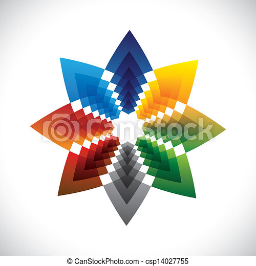 Abstract colorful star creative design symbol- vector graphic - csp14027755