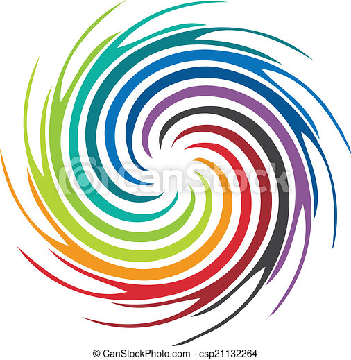 Abstract colorful swirl image logo - csp21132264