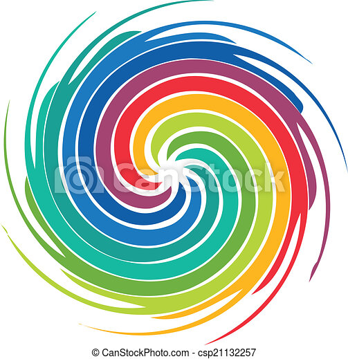 Abstract colorful swirl image logo - csp21132257