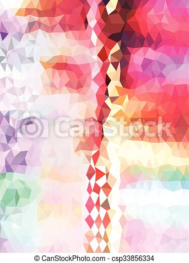 Abstract colorful triangle pattern - csp33856334
