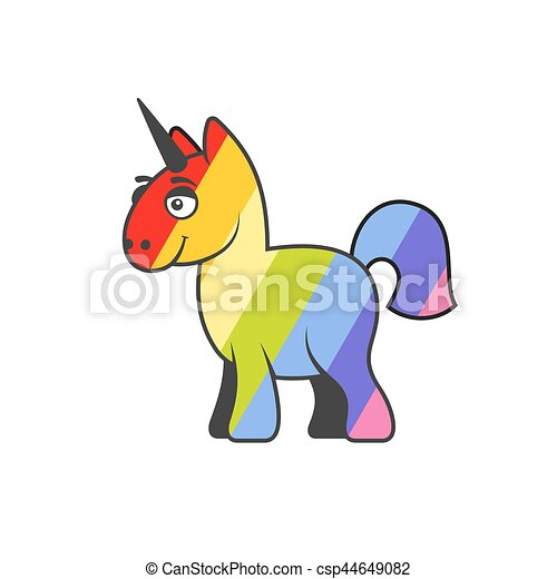 Abstract colorful unicorn. vector. Abstract rainbow colorful ...