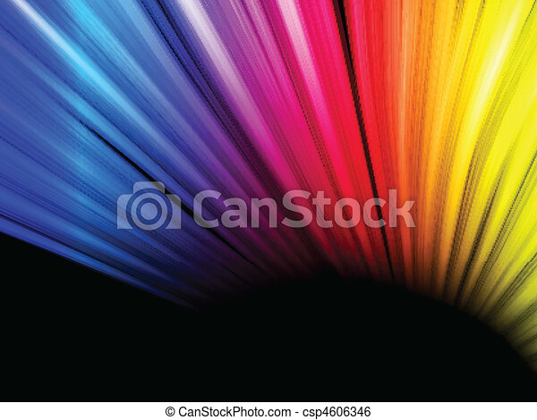 Abstract Colorful Waves on Black Background - csp4606346