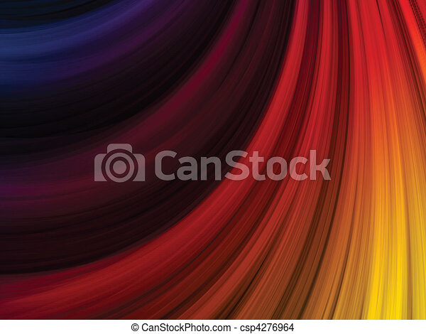 Abstract Colorful Waves on Black Background - csp4276964