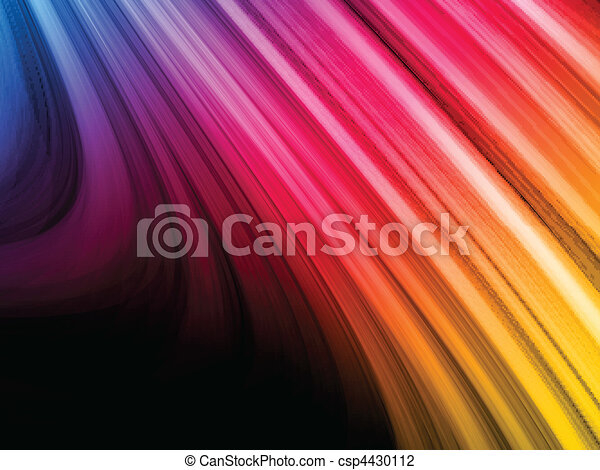 Abstract Colorful Waves on Black Background - csp4430112