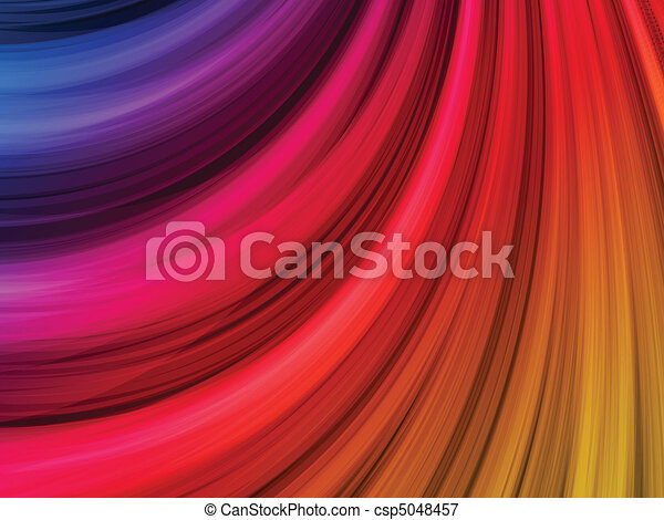 Abstract Colorful Waves on Black Background - csp5048457