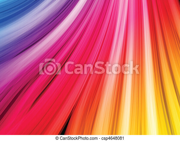 Abstract Colorful Waves on Black Background - csp4648081