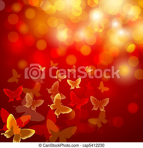 Abstract colourful background with butterflies - csp5412230