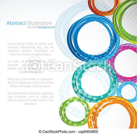 Abstract colourful circle - csp8454800
