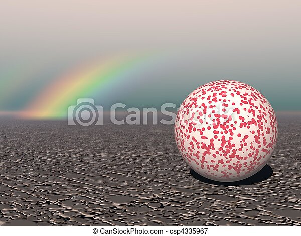 Abstract - Colourful Sphere with Rainbow - csp4335967