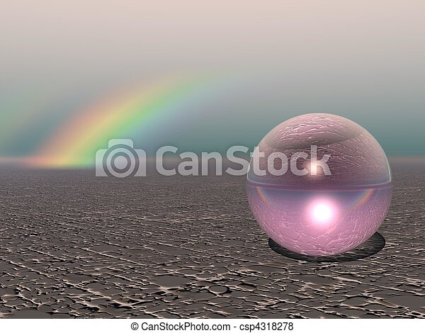 Abstract - Colourful Sphere with Rainbow - csp4318278