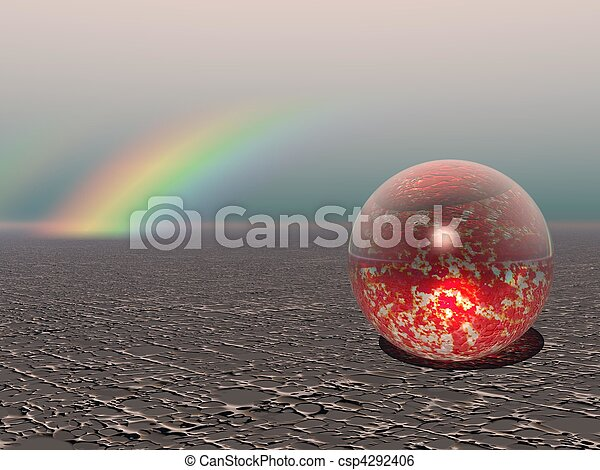 Abstract - Colourful Sphere with Rainbow - csp4292406