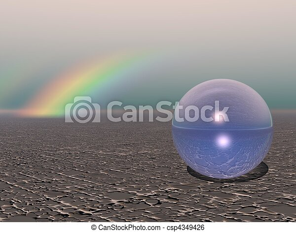 Abstract - Colourful Sphere with Rainbow - csp4349426