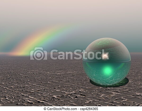 Abstract - Colourful Sphere with Rainbow - csp4284365