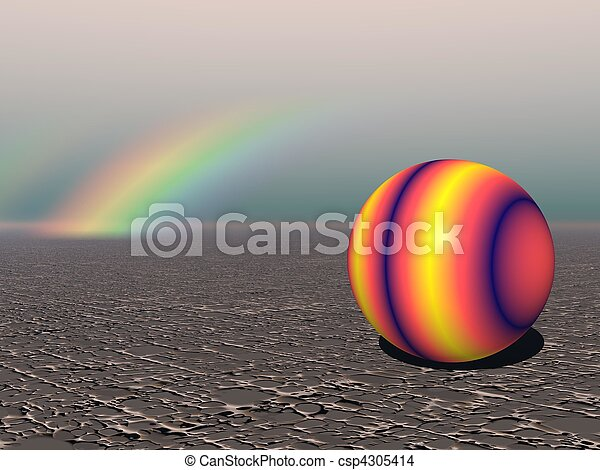 Abstract - Colourful Sphere with Rainbow - csp4305414