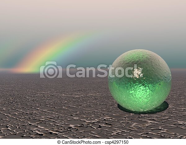 Abstract - Colourful Sphere with Rainbow - csp4297150