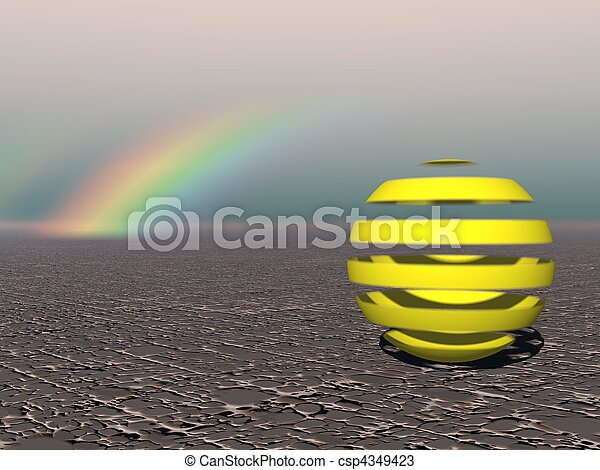 Abstract - Colourful Sphere with Rainbow - csp4349423
