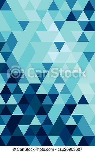 abstract colourful triangle - csp26903687