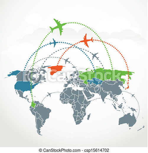 Abstract communication scheme of foreign flights - csp15614702