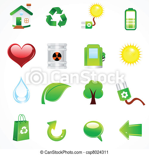 abstract complete eco icon - csp8024311