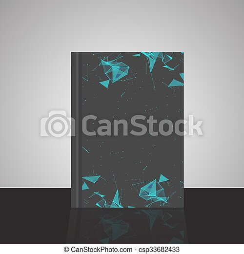 Abstract composition, line and triangle interlacement, rays plexus, a4 business brochure title sheet, tangled backdrop surface, creative web icon, figure intersection points form, EPS10 vector - csp33682433