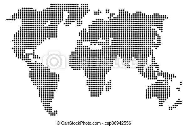 Abstract computer graphic world map of gray round dots clipart abstract computer graphic world map csp36942556 gumiabroncs Images