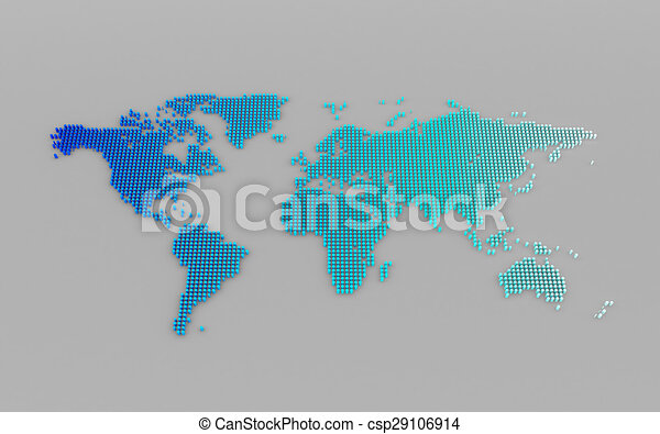 Abstract computer graphic world map of blue round dots clipart abstract computer graphic world map of blue round dots csp29106914 gumiabroncs Images
