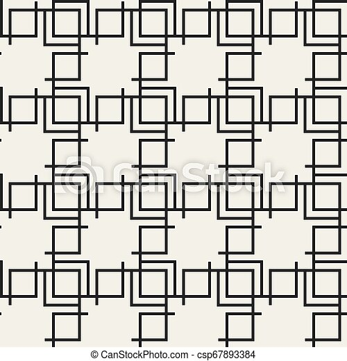Abstract concept monochrome geometric pattern. Black and white minimal background. Creative illustration template. Seamless stylish texture. For wallpaper, surface, web design, textile, decor. - csp67893384