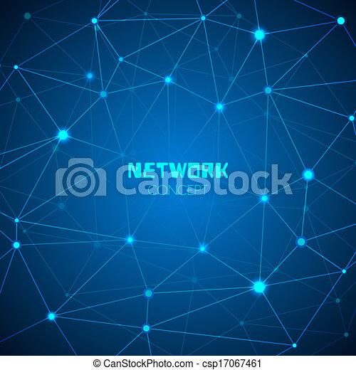 abstract concept, technologie, netwerk - csp17067461