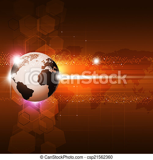 Abstract Concept Technology Background - csp21562360