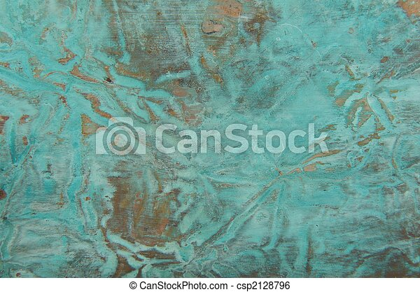 Abstract copper background with patina - csp2128796
