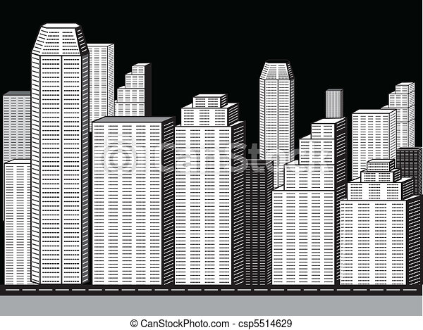 abstract corporate city buildings - csp5514629