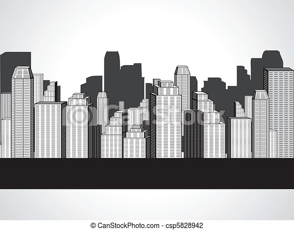 abstract corporate city buildings  - csp5828942