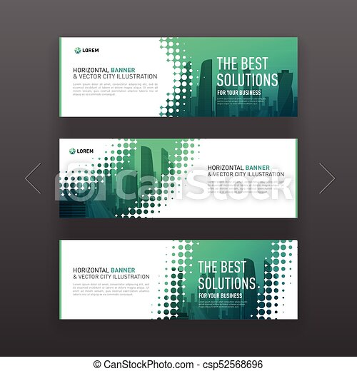 abstract corporate horizontal banner or website slideshow template