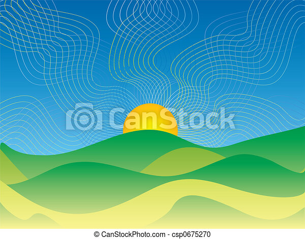 abstract country sunrise - csp0675270