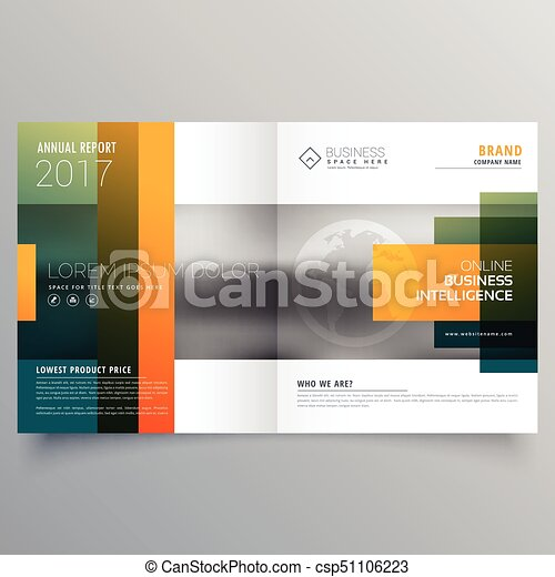 Abstract Creative Bi Fold Brochure Template Or Magazine Cover Page