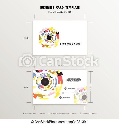 Abstract creative business cards design template name cards symbol abstract creative business cards design template name cards symbol size 55 mm x 90 reheart Choice Image