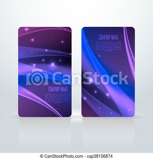Abstract creative business cards. Set template - csp38156874