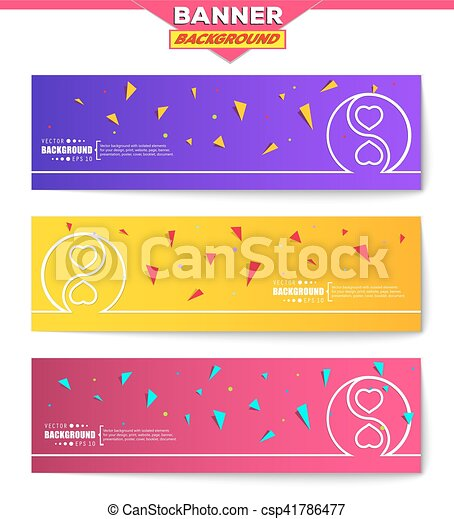 Abstract creative concept vector background for Web and Mobile Applications, Illustration template design, business infographic, page, brochure, banner, presentation, poster, cover, booklet, document - csp41786477