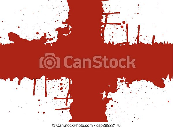 Abstract cross splatter red color design.illustration vector - csp29922178