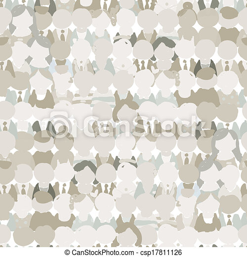 Abstract crowd of peoples, seamless pattern for your design - csp17811126