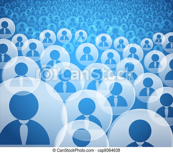 Abstract crowd of social media account icons - csp9364638